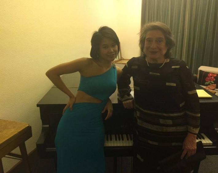 With pianist Elizabeth Leonskaja