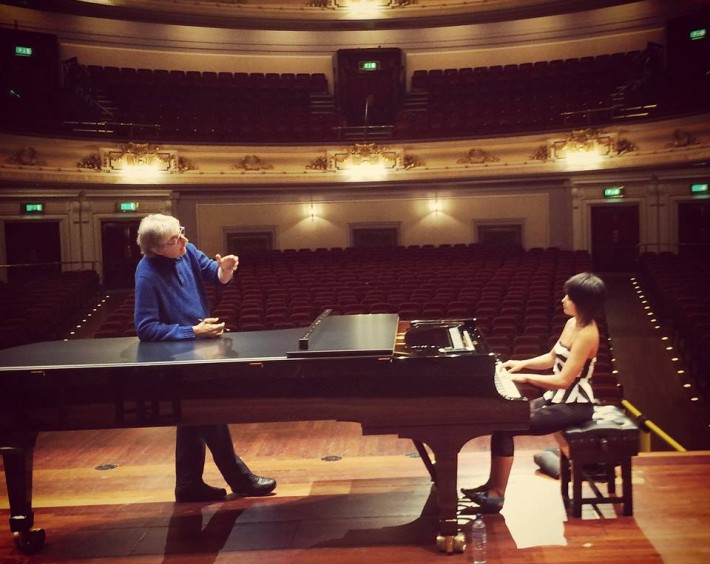 Working with Michael Tilson Thomas on Beethoven 4 for Friday's San Francisco Symphony concert at Usher Hall, Edinburgh