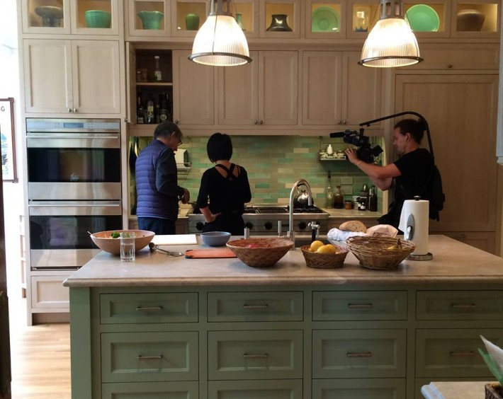 In the kitchen with Michael Tilson Thomas before heading off on tour