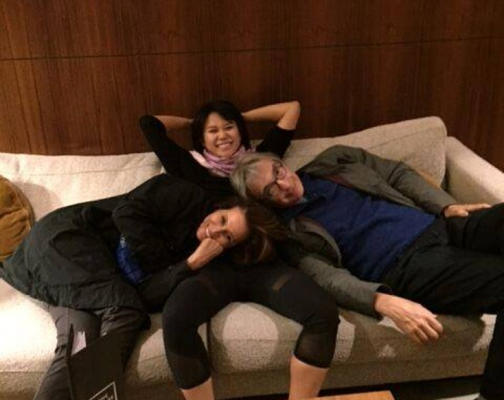 Relaxing in Edinburgh with Corinne Laurie and Michael Tilson Thomas